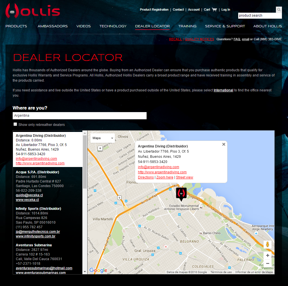 Hollis Authorized Dealer